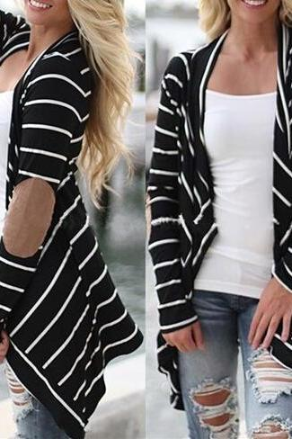 Fashion Striped Loose Knit Cardigan 3514708