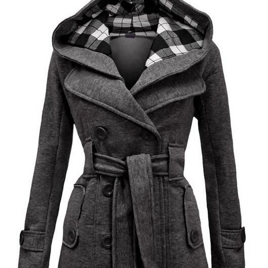 Fashion double-breasted cotton coat L40815